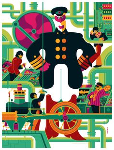 beatles: yellow submarine: sub interior by strongstuff.deviantart.com on @deviantART