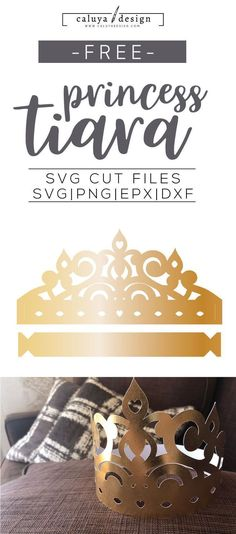 Free Princess Tiara SVG, PNG, EPS & DXF by Caluya Design. Compatible with Cameo Silhouette, Cricut and other major cutting machines!Perfect for your DIY projects, Giveaway and personalized gift. Paper Art Projects, Diy Craft Projects, Diy Crafts, Paper Craft, Diy Tiara, Gold Tiara, Free Printable Clip Art, How To Make Planner, Party Giveaways