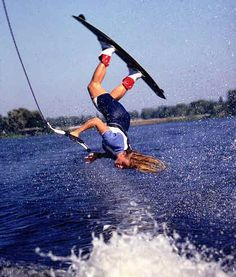 wakeboarding <3 I want to be able to do a flip when I jump the wakes!!