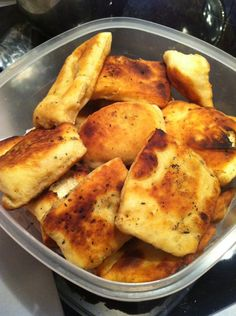 Fried dough: turkish recipe You need 1 egg, 1,5 cup yogurt, backing powder, 4-4,5 cup of wheat and you need oil to fry it in