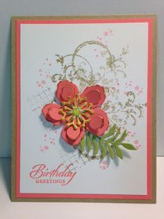 My Creative Corner!: A Timeless Textures Botanical Builders and Wetlands Birthday Card