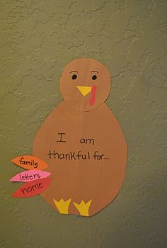 The Iowa Farmer's Wife: Thankful Turkey- couldn't this just be a daily reminder and not need one special day per year to be thankful for the things and people in our lives?!