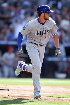 #Allstar2016 National League AllStar Kris Bryant of the Chicago Cubs watches his first inning home run against the American League AllStars during the 2016 MLB...