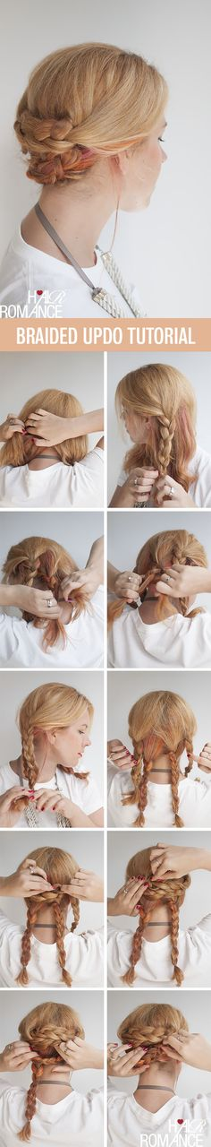 Hair Romance - Easy braided updo hairstyle tutorial