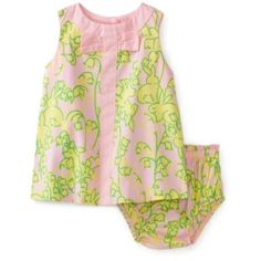 Lilly Pulitzer Baby-girls Infant Shift Dress, Lillys Pink Hopping Down The Bunny Trail, 12-18 Months $68.00