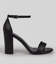 Sandales à talons à brides noires en cuir    New Look