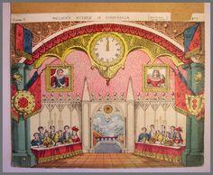 Pollocks Toy Theatre Original 1870s Backdrop Scene Lithograph Cinderella No 7 | eBay
