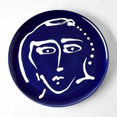 Buy the Face Plate Blue by The Conran Shop and more online today at The Conran Shop, the home of classic and contemporary design Vases, Marble Console Table, Console Tables, Abstract Faces, Blue Plates, Icon Design, Contemporary Design, Home Accessories, Decorative Plates