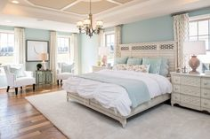 Bedroom: Captivating Palladian Blue Bedroom For Remodeling A Master Bedroom To Design Captivating Bedroom Based On Your Style 11