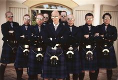 """#A favourite wedding photo of our customer and his """"best men""""  We liked it so much it was one of our profile pictures!"""