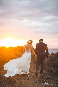 Maui Wedding Sunset at the Kukahiko Estate