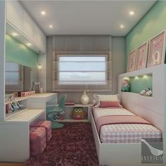undefined Room Design Bedroom, Girl Bedroom Designs, Room Ideas Bedroom, Home Room Design, Small Room Bedroom, Bedroom Decor, Dream Rooms, Dream Bedroom, Cute Room Decor