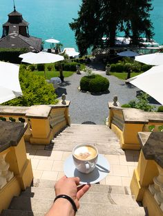 Wedding planning & cappuccini time lay back and enjoy the view ! 🏝☕️ We wish you a relaxing sunday evening & a great start into the new week ! Villa, New Week, Wedding Planning, Sunday, Patio, Photo And Video, Outdoor Decor, Instagram, Domingo