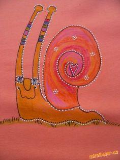 Malování voskovkami na textil plus konturování gelovým perem