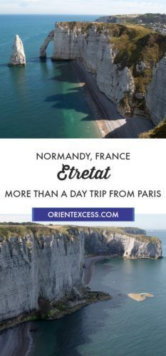 Visit Etretat and the famous cliffs in Normandy, France. From Paris, the area is worth a few days to explore it fully.