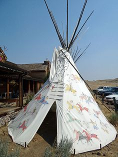 Teepee - Montana by Donnali Native American Teepee, Native American Beauty, Native American Indians, Native Americans, Indian Teepee, Yurt Living, Flathead Lake, Plains Indians, Big Sky Country