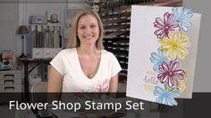 stampin up tutorials flower shop - YouTube