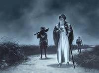 "title: ""Guru Nanak Dev Ji"" blue monochromatic painting by artist Kanwar Singh Dhillon Guru Nanak Ji, Nanak Dev Ji, Religious Paintings, Religious Art, Guru Nanak Jayanti, Monochromatic Paintings, Exotic Art, Found Art, World Religions"