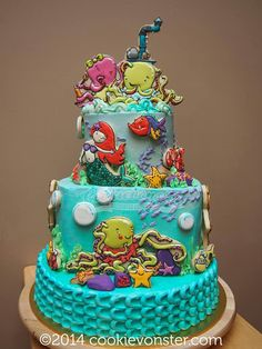 Under the Sea Cookie Cake