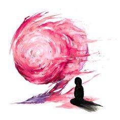 """Blown away"" Watercolor on paper WWW.ETSY.COM/SHOP/NABIART #nabiart #watercolor #marconabi #gouache"