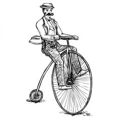 penny farthing drawing