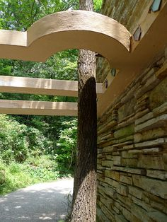 Fallingwater, (Kaufman Residence). 1936-39. Bear Run Creek in Mill Run, Pennsylvania.  Frank Lloyd Wright.