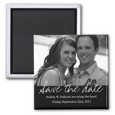 Black Style Save The Date Photo Magnet Black Style Save The Date Photo Magnet.
