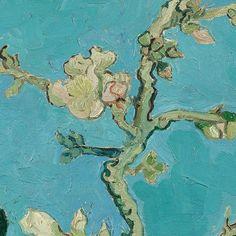 Vincent van Gogh Almond Blossom detail 1890 Saint Rémy de