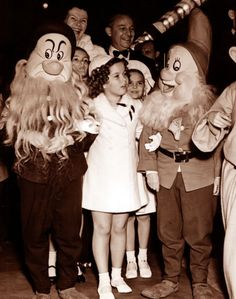 Shirley Temple at the premiere of Disney's Snow White and the Seven Dwarfs, 1937.