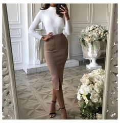 Classy Work Outfits, Stylish Outfits, Ootd Classy, Classy Clothes, Classy Style, Classy Dress, Fall Office Outfits, Elegant Style Women, Classy Winter Outfits