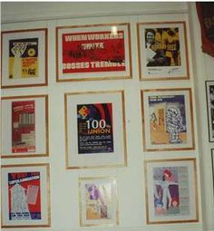posters from the Alban Gillezeau Collection in the Lorna Morrison Room