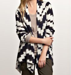 #Navajo-inspired patterns look like the rage this fall! GAP Navajo Print Cardigan