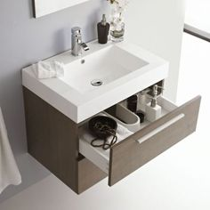 Premier Relax Oak Bathroom Wall Mounted Vanity Unit
