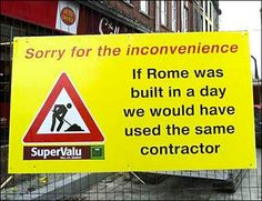 Funny pictures about Construction Humor. Oh, and cool pics about Construction Humor. Also, Construction Humor photos. Funny Signs, Funny Jokes, Funniest Memes, Construction Humor, One Job, Just For Laughs, Pranks, Laugh Out Loud, The Funny