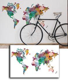 Mapa Decorativo - Aquarelado
