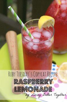 Living Better Together: Ruby Tuesday's Copycat Recipe: Raspberry Lemonade