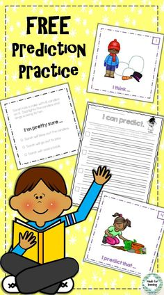 """Try a FREE sample of """"I Can Predict"""" Reading strategy practice."""