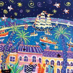 Sailing under the Stars, Falmouth. Tall Ships Regatta 2014. Original Painting by John Dyer
