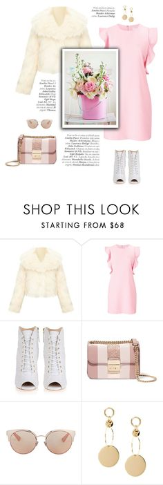 """""""The glam lady"""" by little-vogue ❤ liked on Polyvore featuring Witchery, Giuseppe Zanotti, MICHAEL Michael Kors, Christian Dior, chic, Pink, fashiontrend and polyvorecontest"""