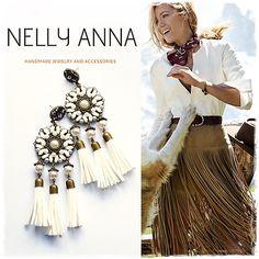 Ethnic boho chic tassel earrings country от NellyAnnaAccessories
