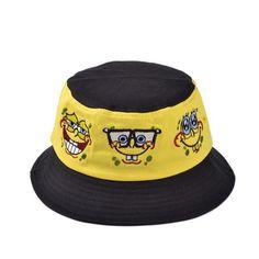 b8181171d0d Summer SpongeBob Cotton Bucket Hat. Caps For WomenMen And ...