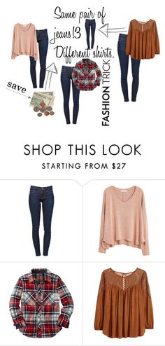 """Fashion Trick"" by moeena ❤ liked on Polyvore featuring Frame Denim, MANGO, H&M, casualoutfit, thedailylook and fashionhack"