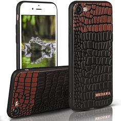 iPhone 8 Case,MKOAWA iphone 7 Case (4.7 inch) with Resilient Shock Absorption and Carbon Fiber Crocodile pattern Design for Apple iPhone 8 (2017) / iphone 7