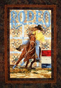 """""""The Barrel Racer"""", rodeo quilt, by Sue Garman"""