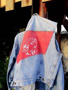 Maryval / Upcyklovaná džínsová vesta