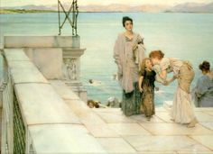 "Lawrence Alma-Tadema: ""A Kiss"""