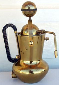 Vintage Brass Espresso Cappuccino Coffee Machine Italy   eBay
