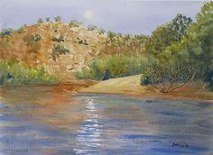 Moonrise, Katherine Gorge