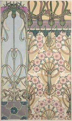 Bild:  Alphonse Mucha - Plate 30 from ''Documents Decoratifs''