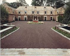 1000 images about house facade exterior french country for Courtyard driveway house plans